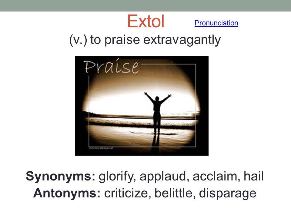 Extol Pronunciation.