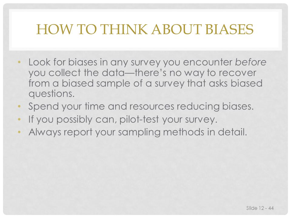 How to Think About Biases