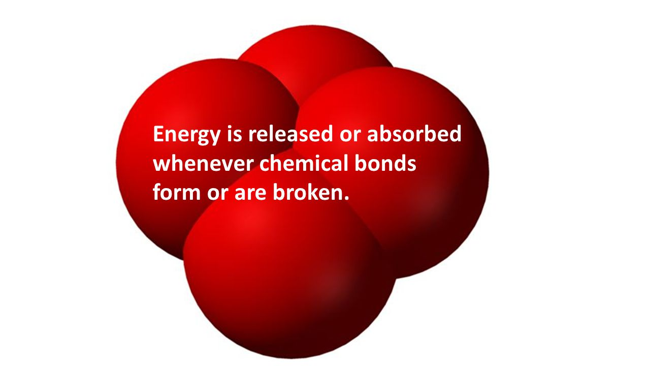 Energy is released or absorbed