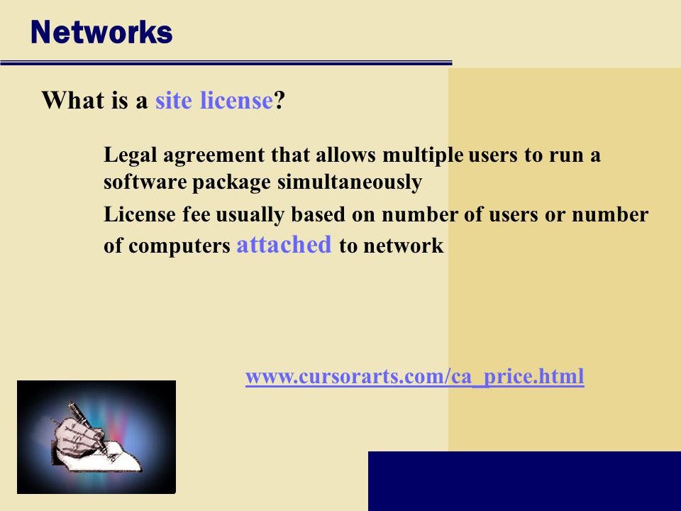 Networks What is a site license