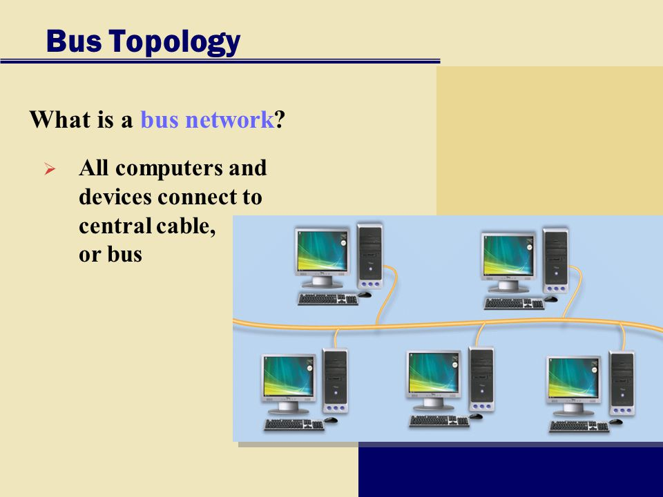 Bus Topology What is a bus network