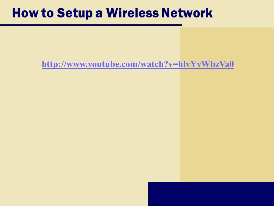 How to Setup a Wireless Network