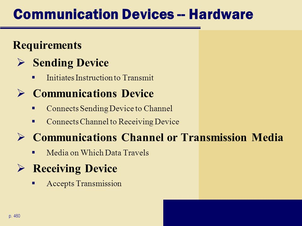 Communication Devices -- Hardware
