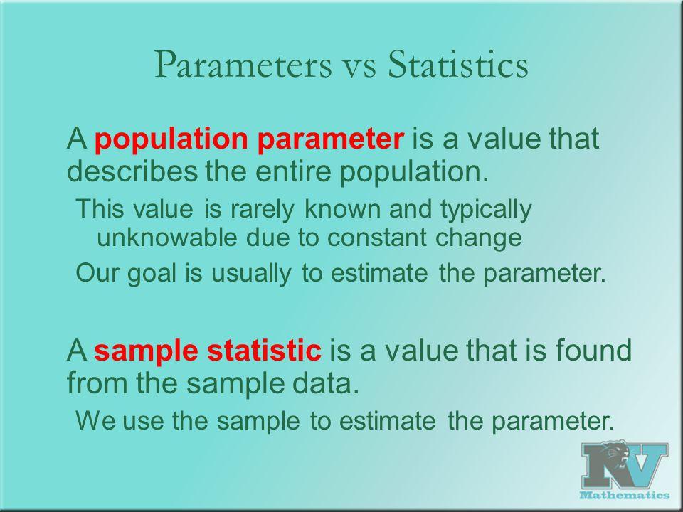 Parameters vs Statistics