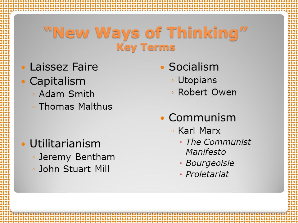 New Ways of Thinking Key Terms