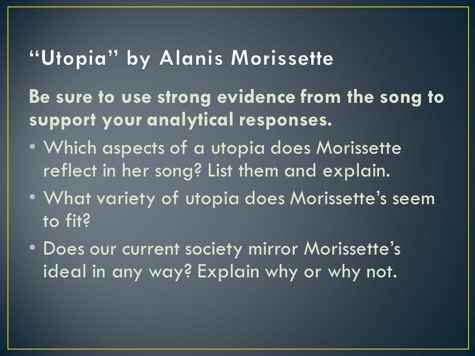 Utopia by Alanis Morissette