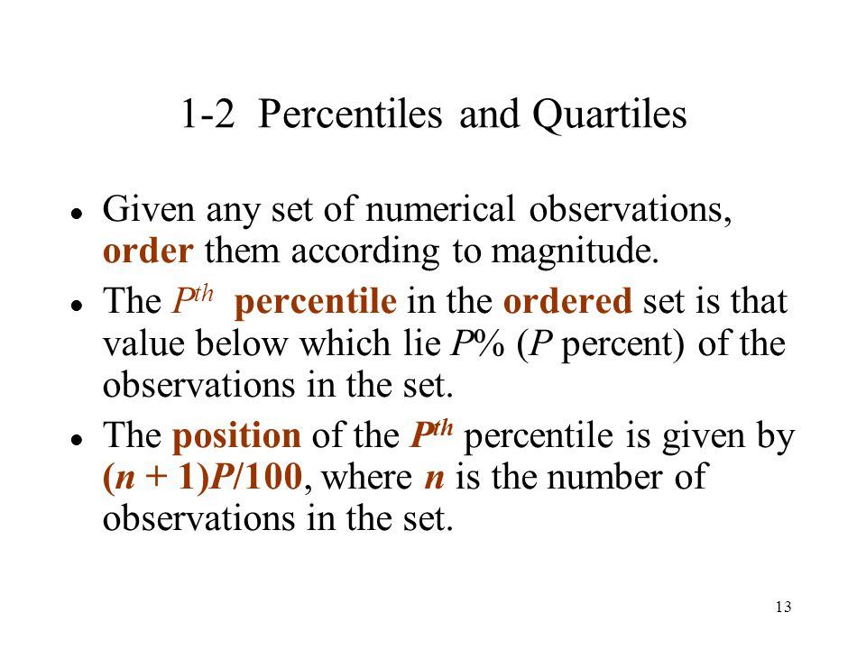 1-2 Percentiles and Quartiles