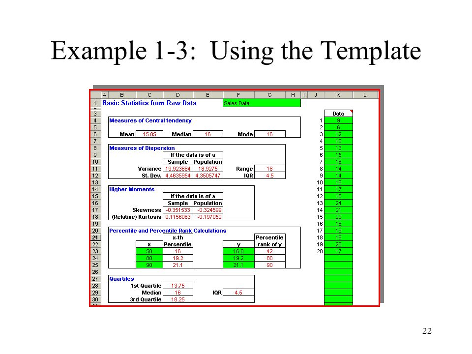 Example 1-3: Using the Template