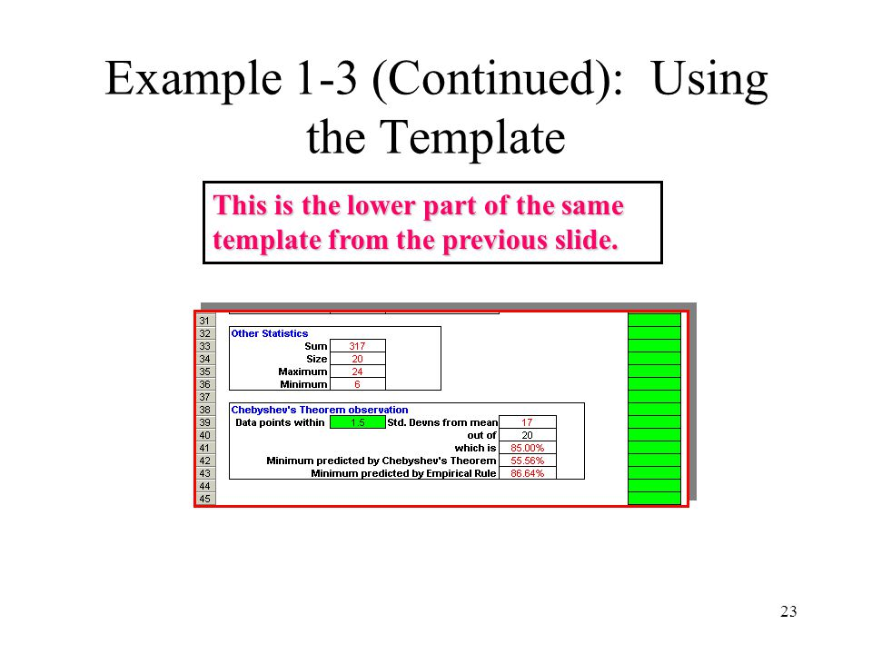 Example 1-3 (Continued): Using the Template