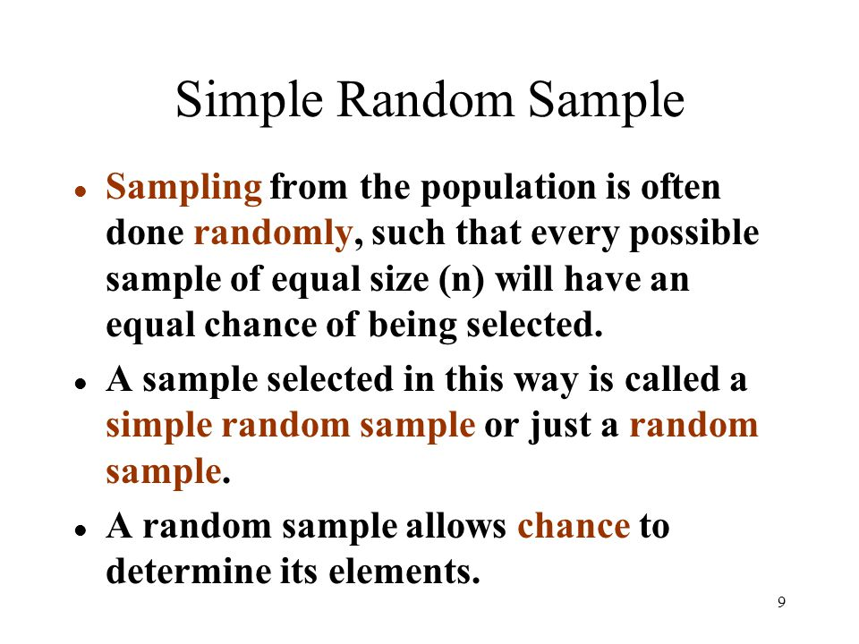 simple random sampling is done when 19082018  can you think of a couple additional examples where stratified sampling  the principal reasons for using stratified random sampling rather than simple.