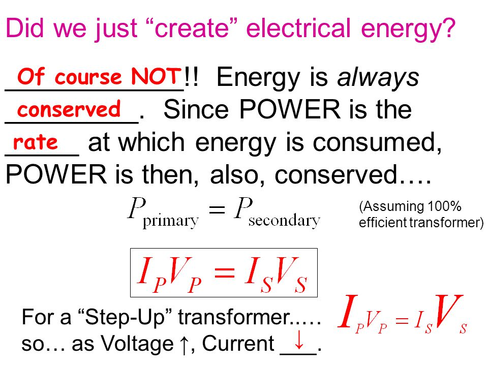 Did we just create electrical energy