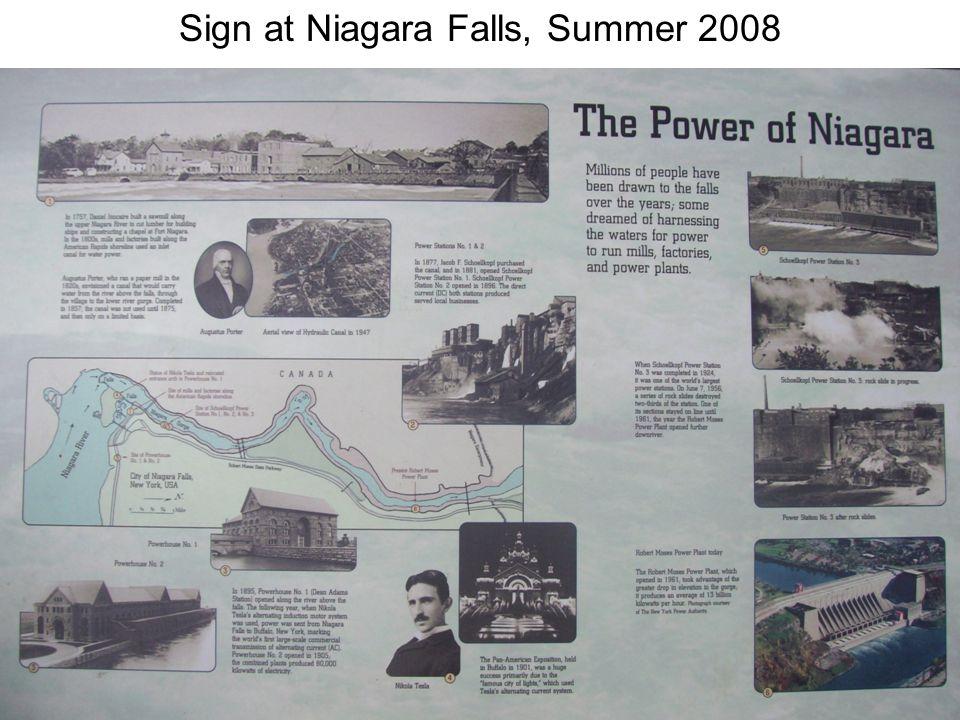 Sign at Niagara Falls, Summer 2008