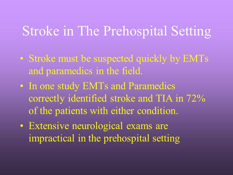 Stroke in The Prehospital Setting