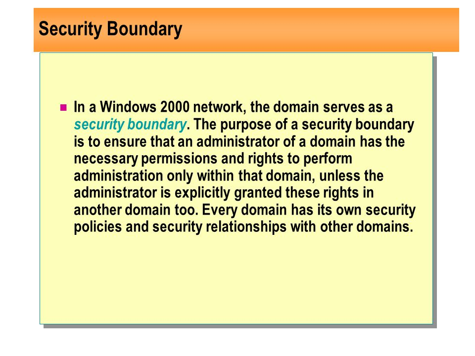 Security Boundary