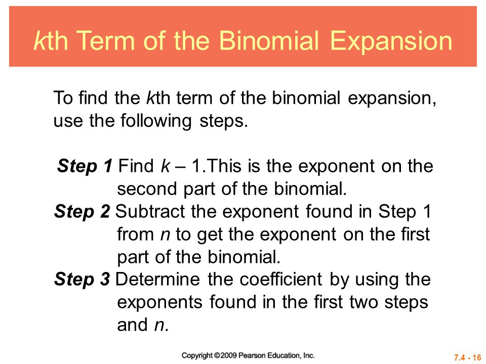 kth Term of the Binomial Expansion