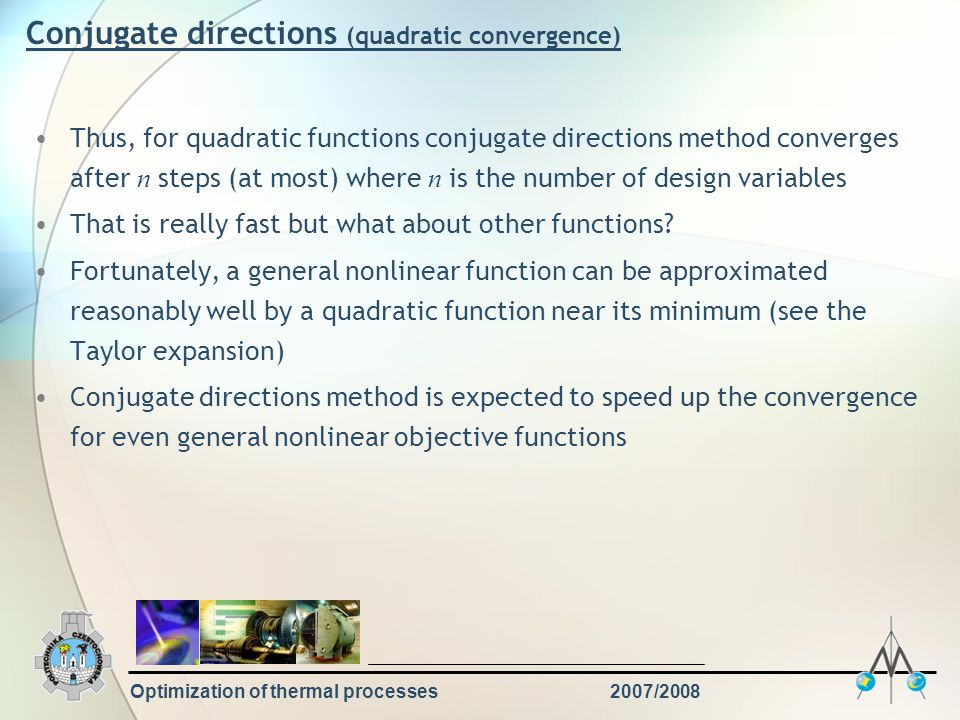Conjugate directions (quadratic convergence)