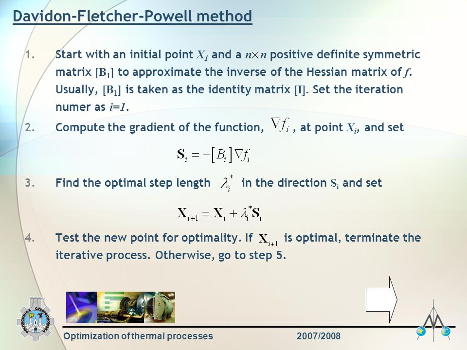 Davidon-Fletcher-Powell method
