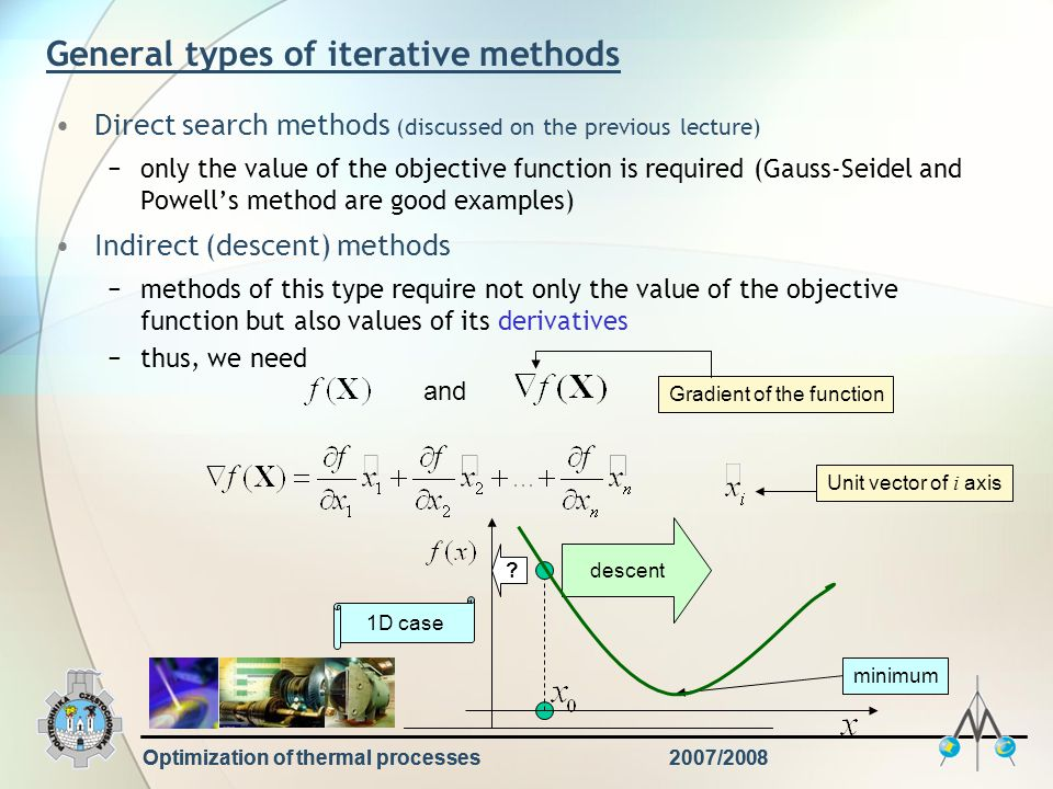 General types of iterative methods