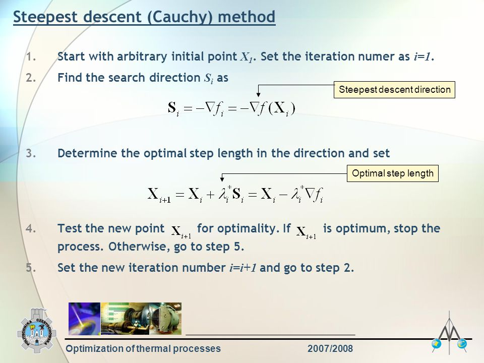 Steepest descent (Cauchy) method