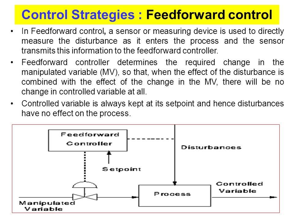 Control Strategies : Feedforward control