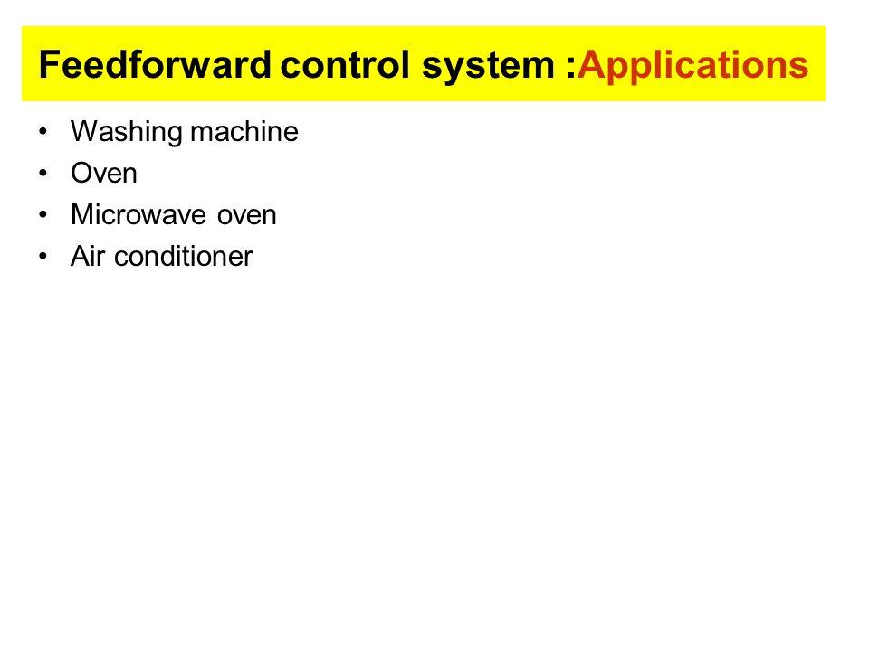 Feedforward control system :Applications