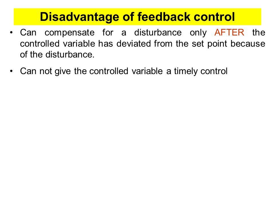 Disadvantage of feedback control