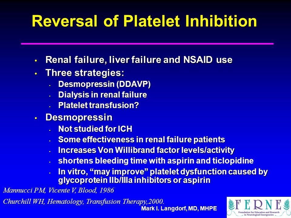Reversal of Platelet Inhibition