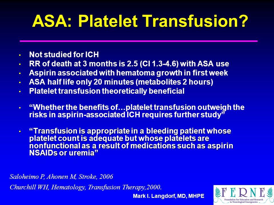 ASA: Platelet Transfusion