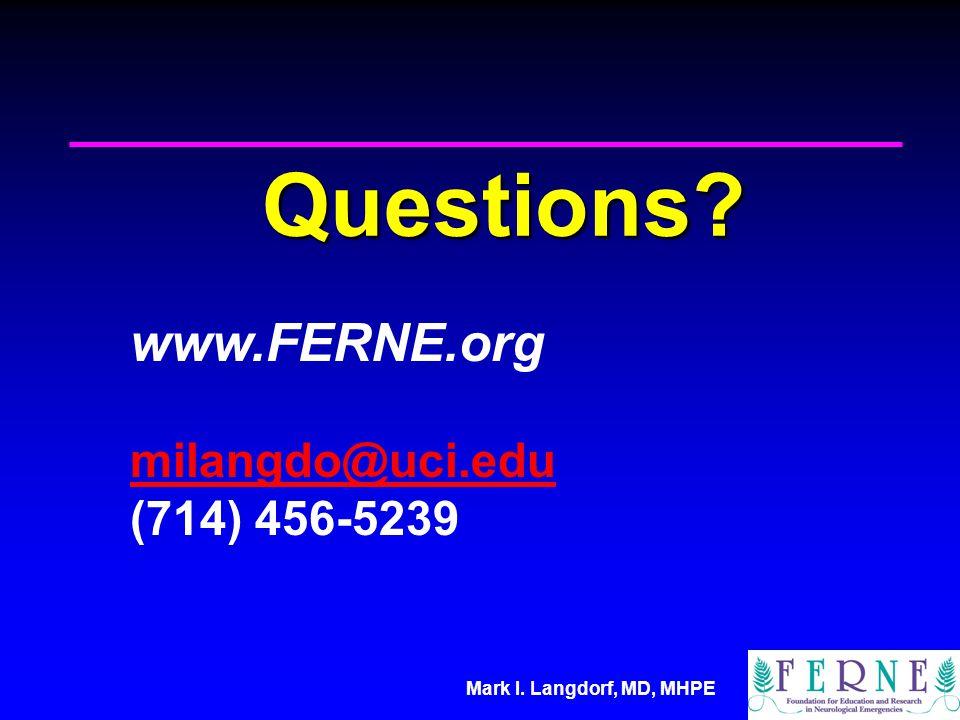 Questions www.FERNE.org milangdo@uci.edu (714) 456-5239