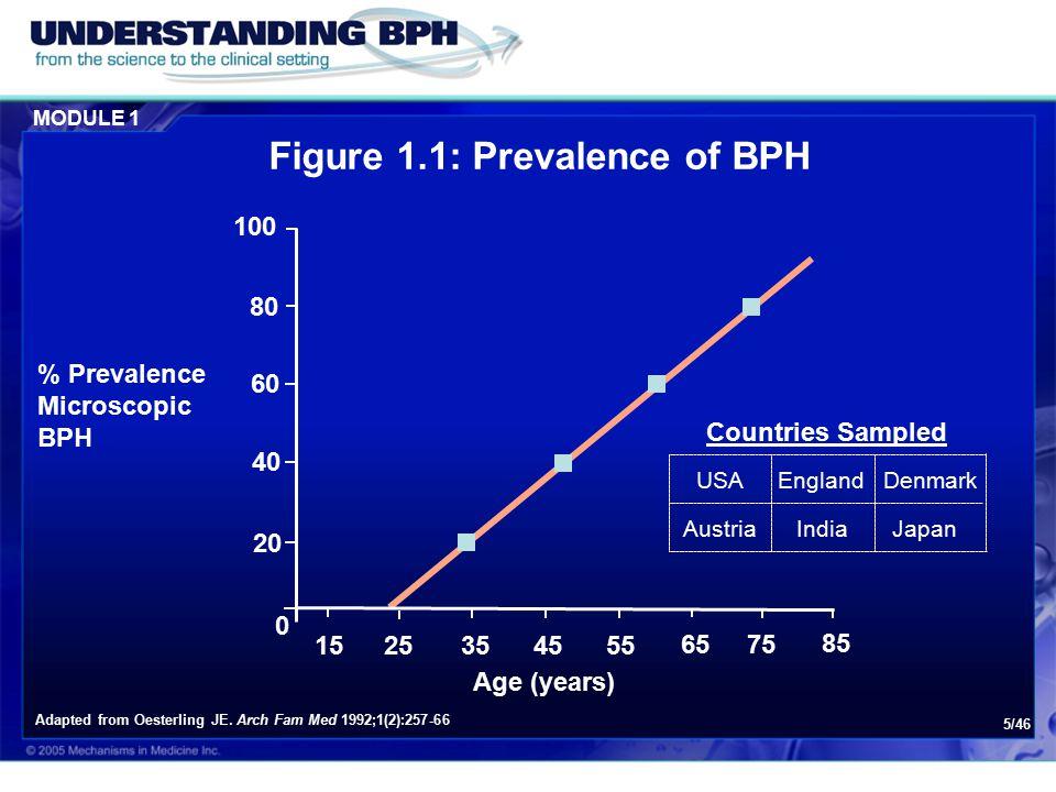 Figure 1.1: Prevalence of BPH