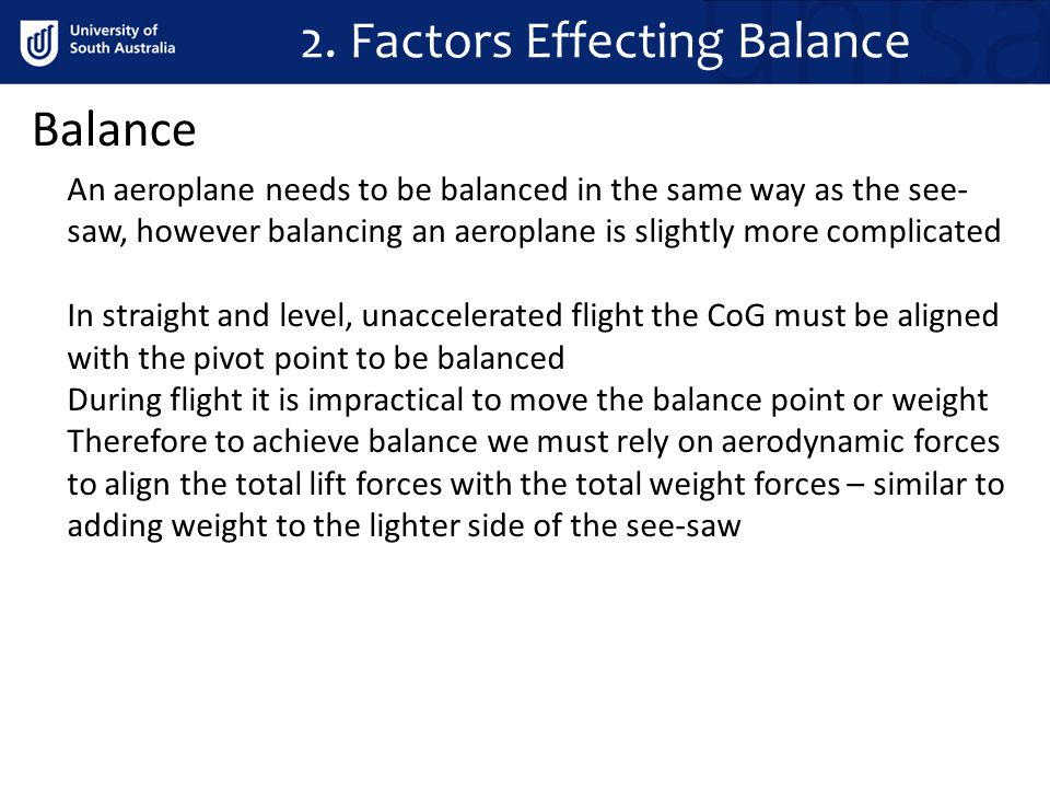 2. Factors Effecting Balance