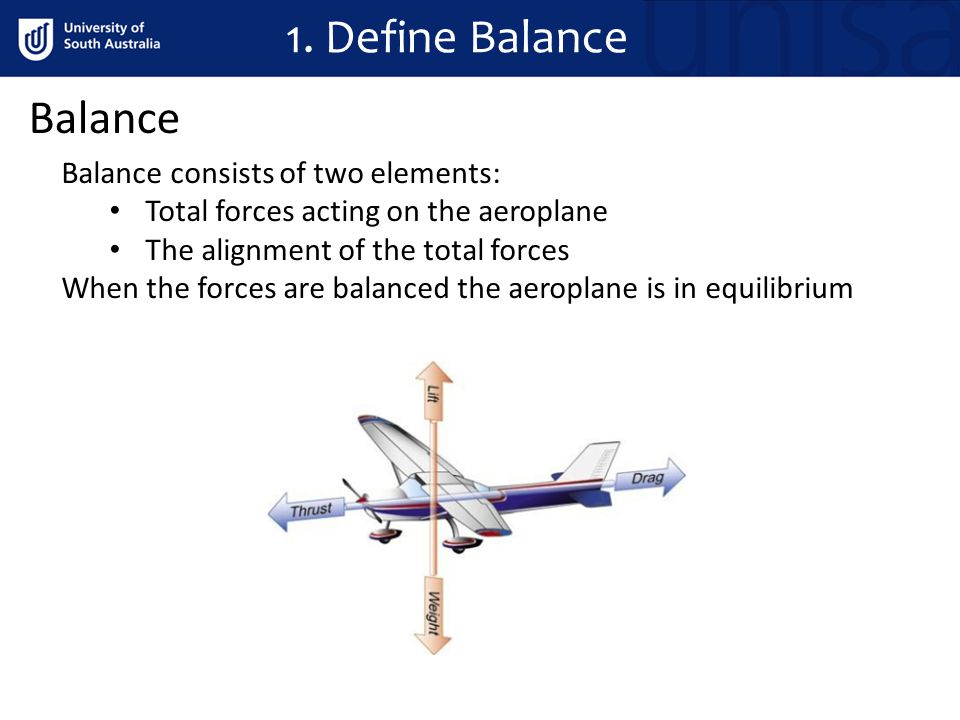 1. Define Balance Balance Balance consists of two elements: