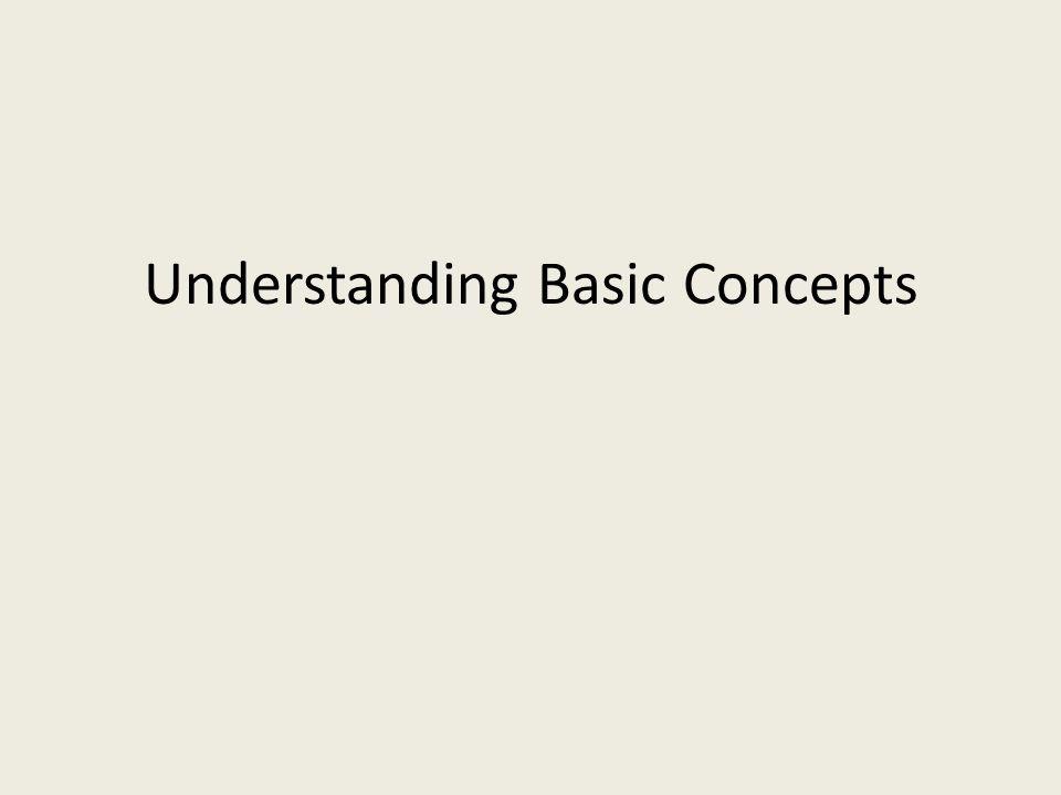 Understanding Basic Concepts