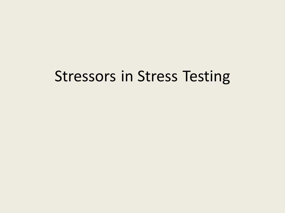 Stressors in Stress Testing