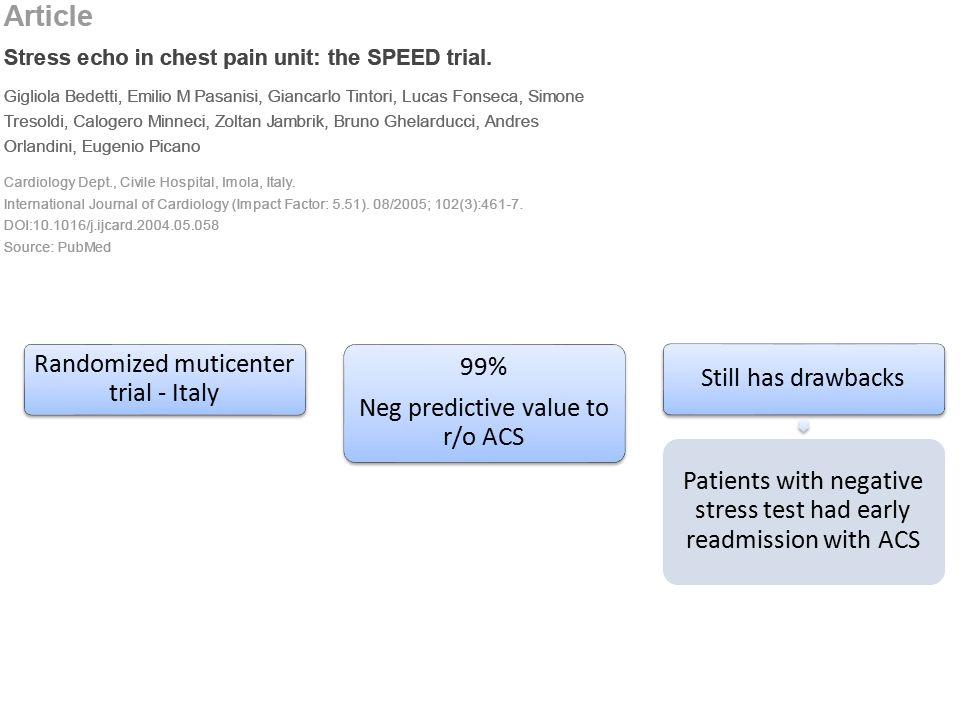 Randomized muticenter trial - Italy 99%