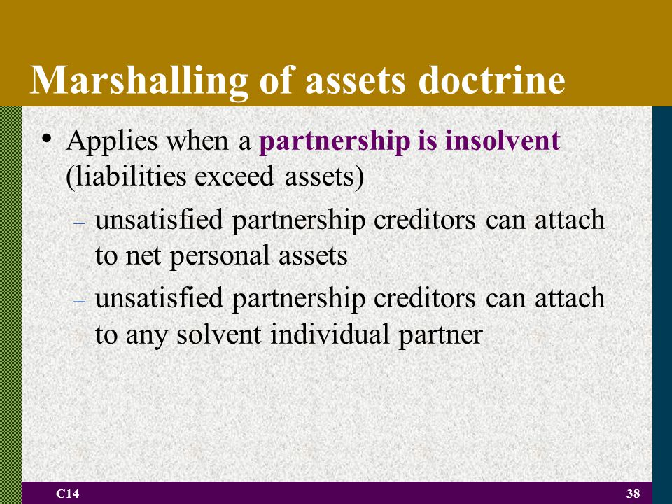 Marshalling of assets doctrine