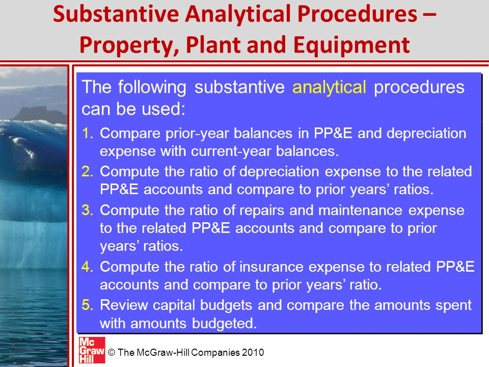 Substantive Analytical Procedures – Property, Plant and Equipment