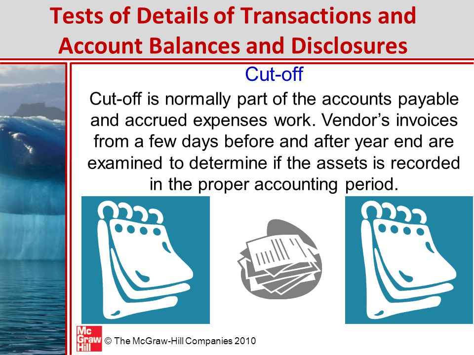 Tests of Details of Transactions and Account Balances and Disclosures