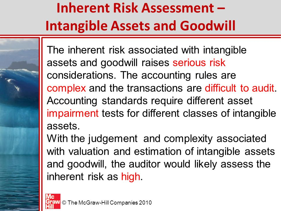 Inherent Risk Assessment – Intangible Assets and Goodwill
