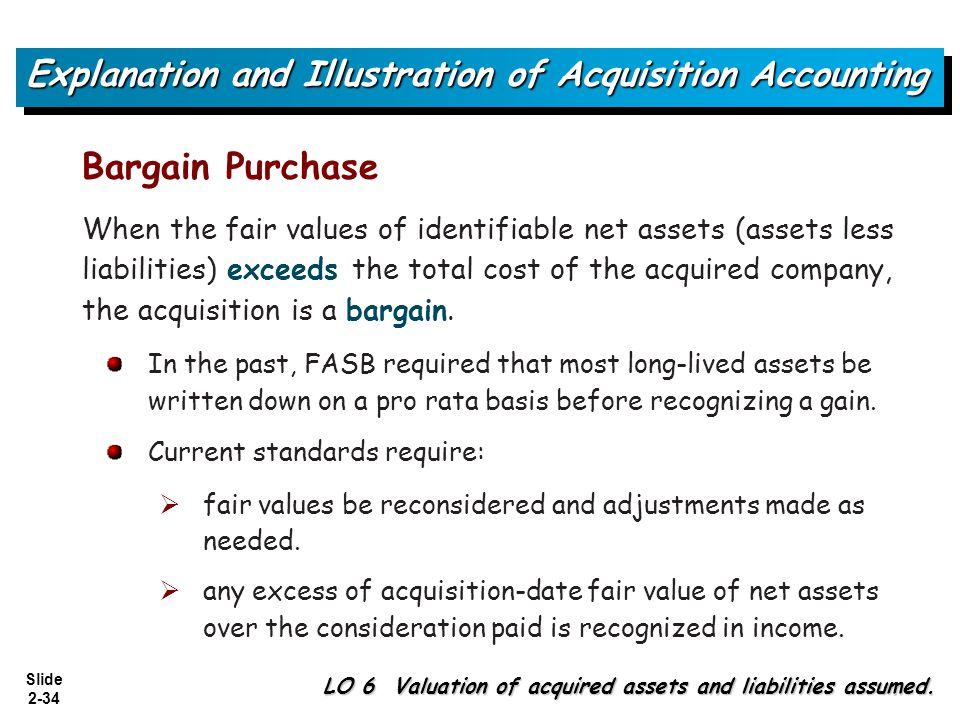 Explanation and Illustration of Acquisition Accounting