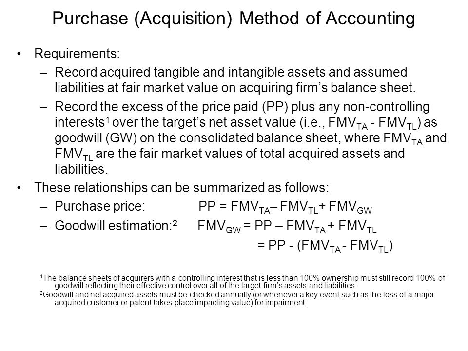 Purchase (Acquisition) Method of Accounting