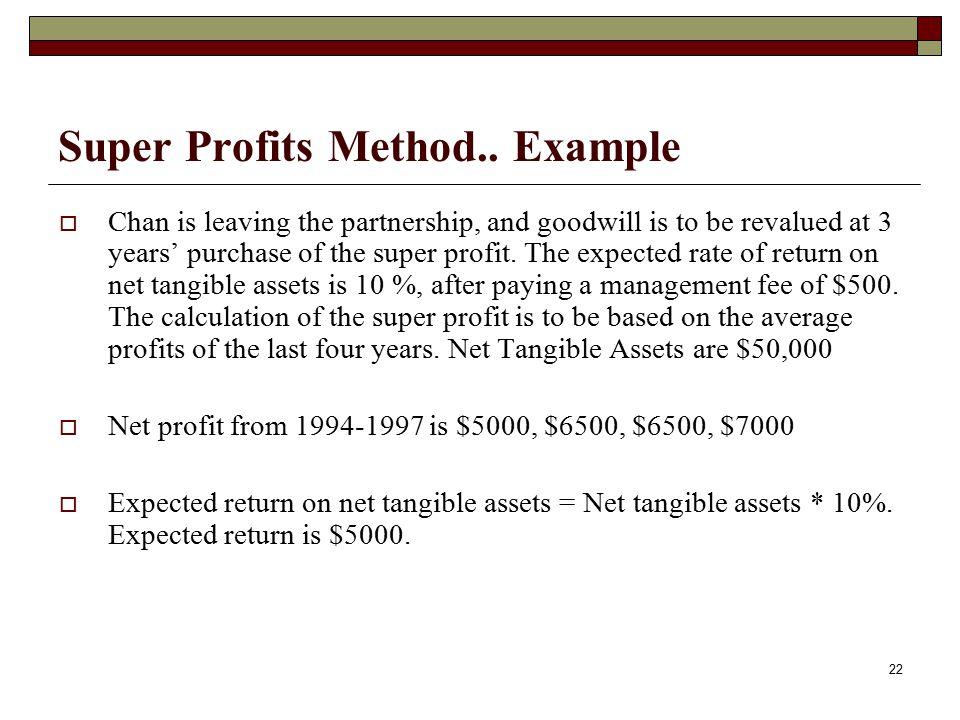 Super Profits Method.. Example