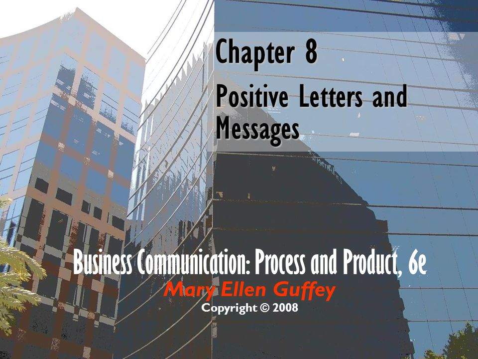 Chapter 8 Positive Letters and Messages