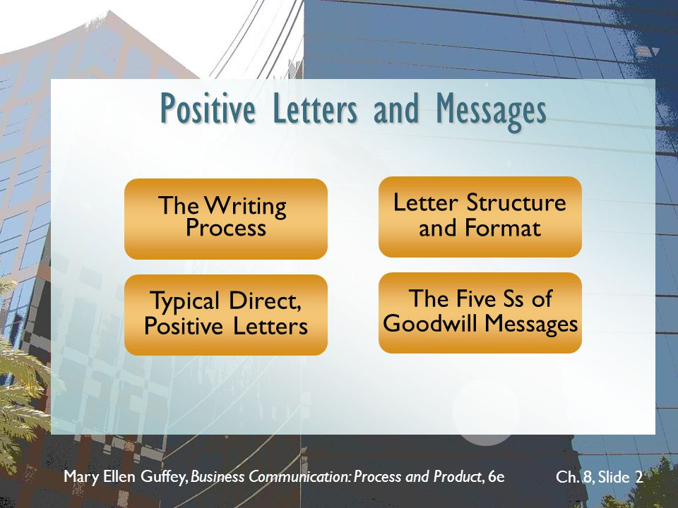 Positive Letters and Messages