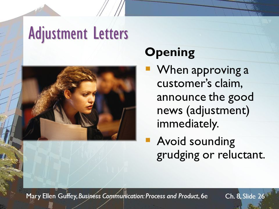 Adjustment Letters Opening