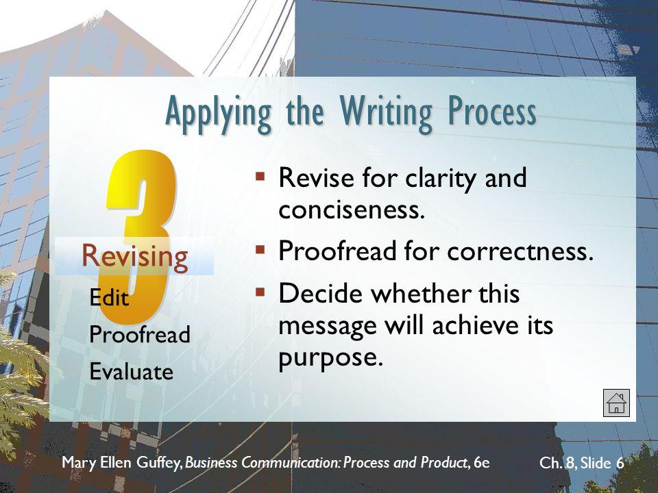 Applying the Writing Process