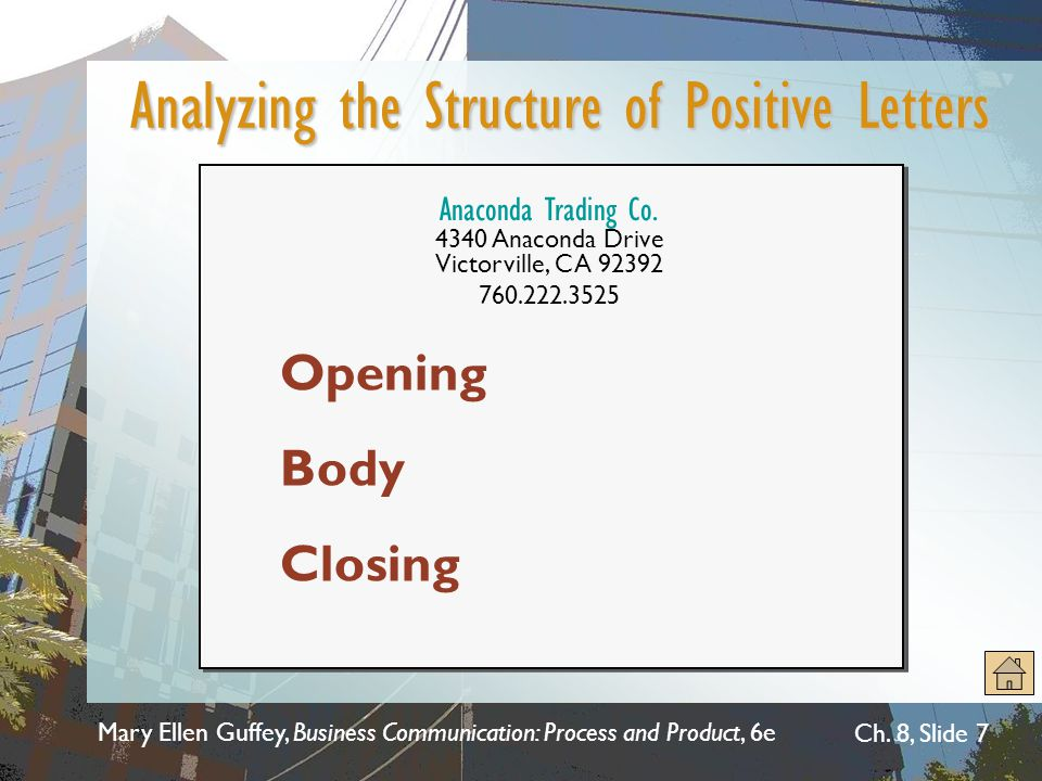 Analyzing the Structure of Positive Letters