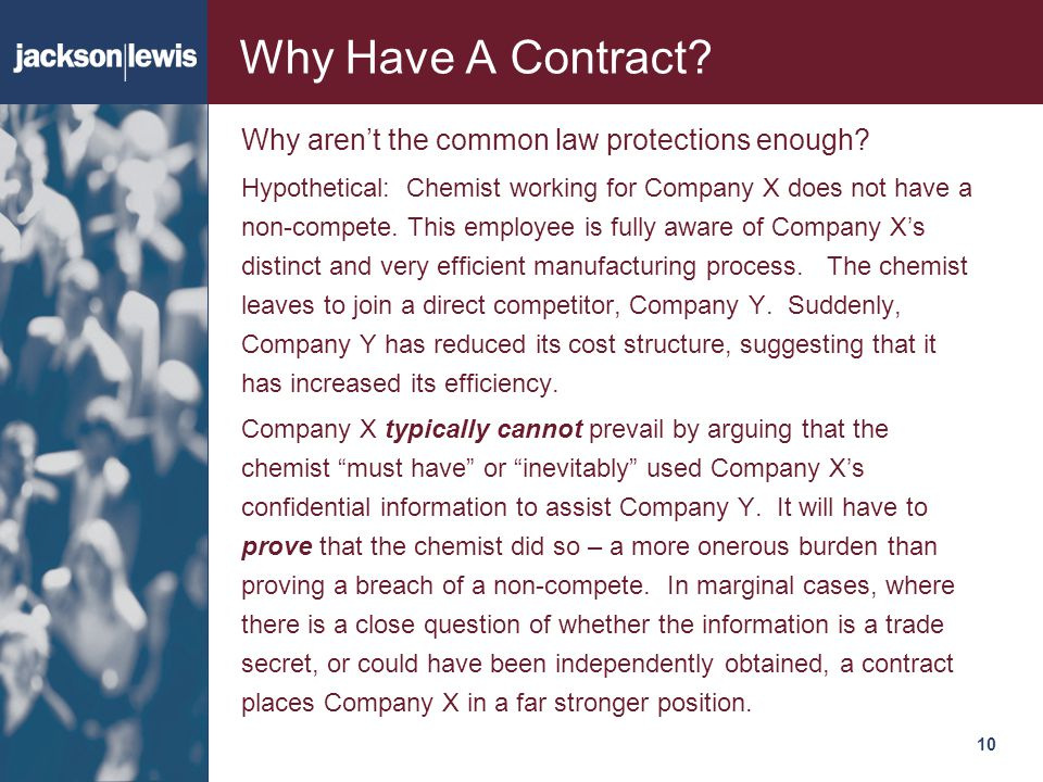 Why Have A Contract Why aren't the common law protections enough