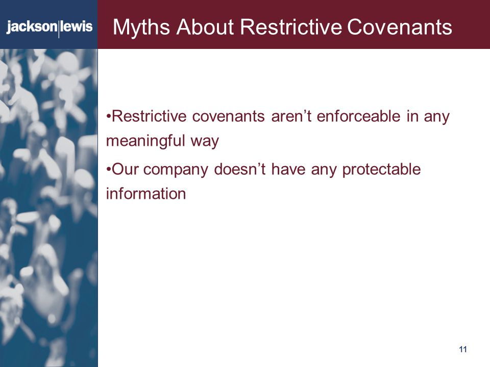 Myths About Restrictive Covenants