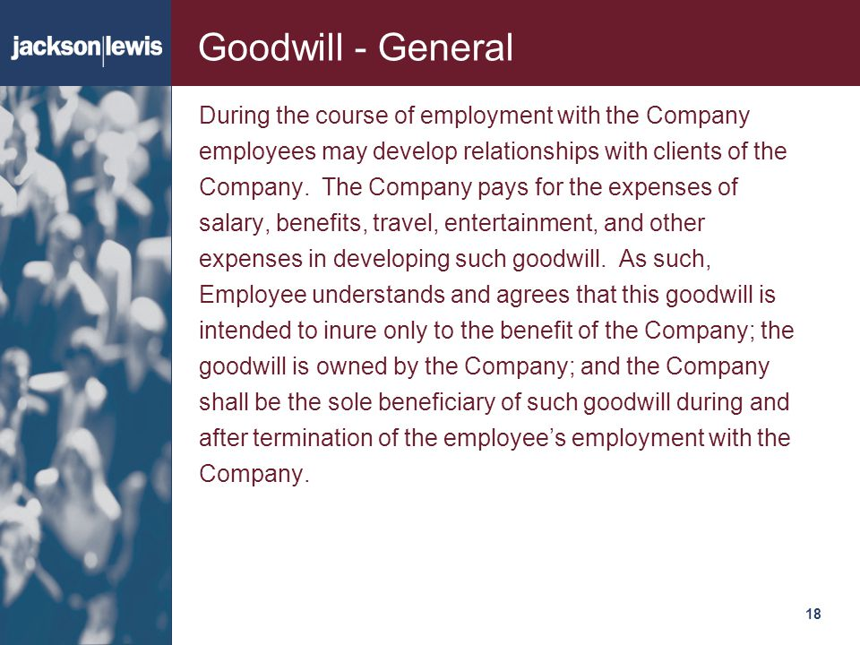 Goodwill - General